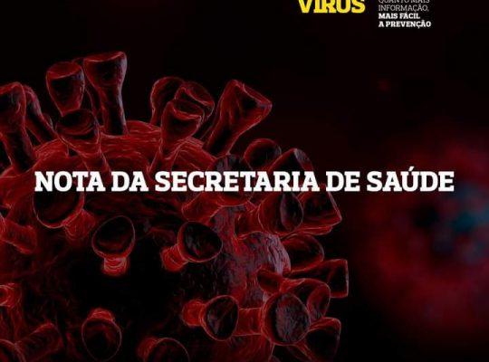 NOTA SECRETARIA DE SAÚDE – 05/08/20